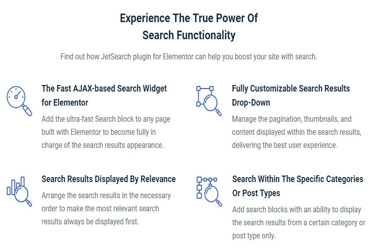 search addon for elementor