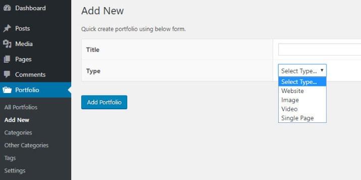 wp portfolio showcase websites