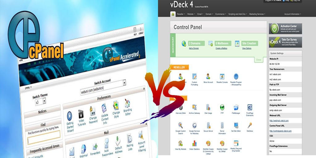 cPanel vs vDeck PROS and CONS | Which Control Panel Should