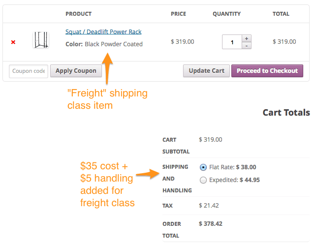 product shipping cost woocommerce