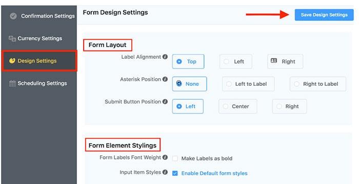designing payment form wordpress