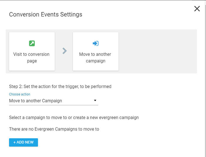 Conversion Events Settings