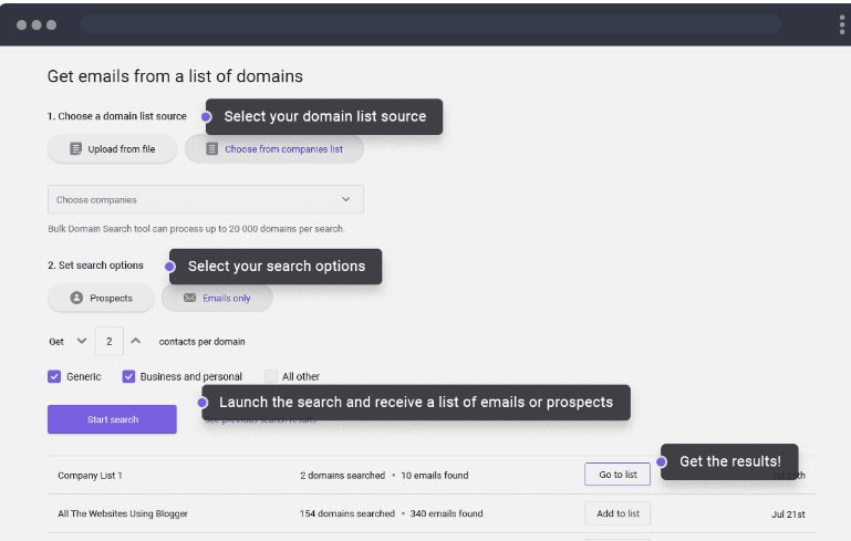 extract emails from any website