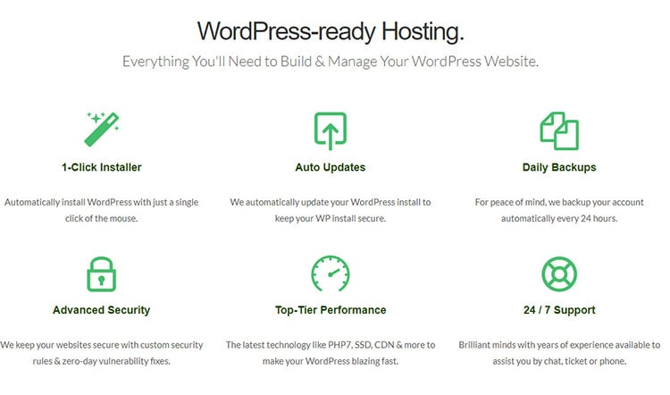 green geeks wordpress hosting