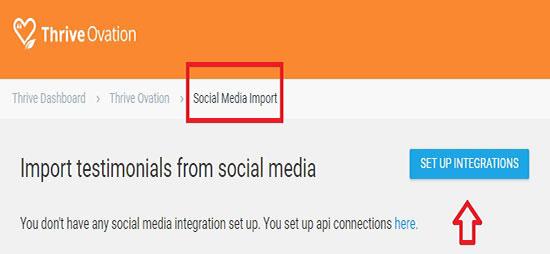 Import testimonials from social media
