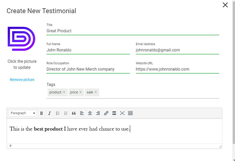 creating testimonial wordpress plugin