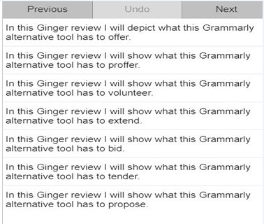 rephrase feature ginger software