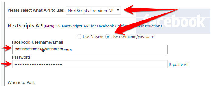 share from wordpress to facebook closed groups