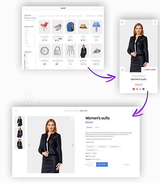 shop functionality deep theme