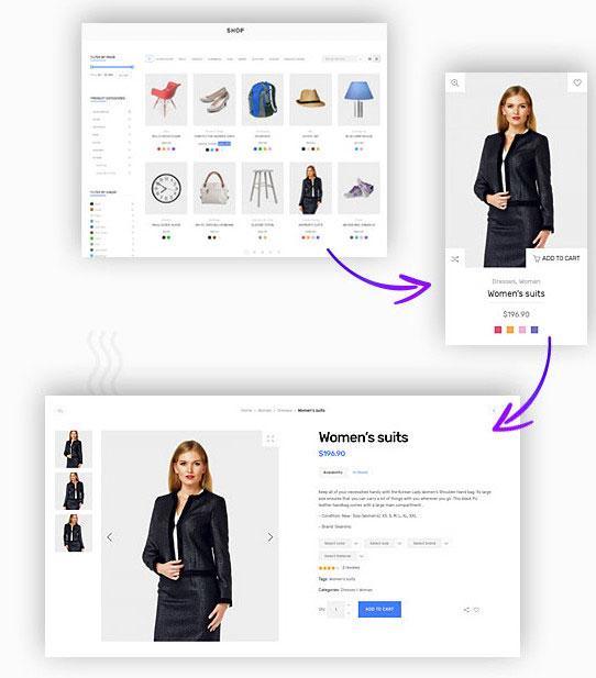 shop functionality deep theme
