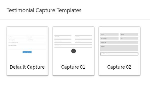 testimonial capture templates