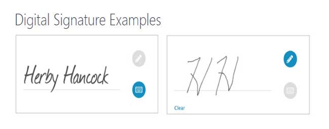wordpress online forms with electronic signature