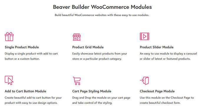 beaver builder woocommerce modules