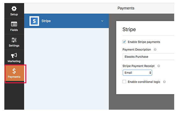 accept credit card payments wordpress forms