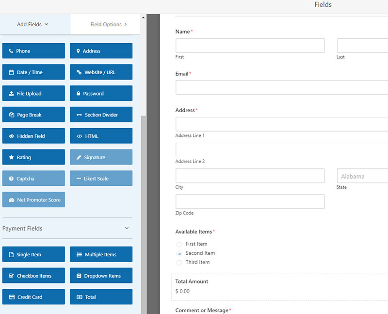 online payment forms wordpress