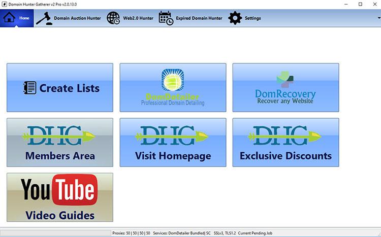 user interface domain hunter gatherer