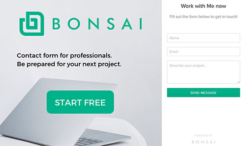 bonsai contact forms