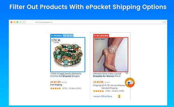 epacket shipping options dropshipping