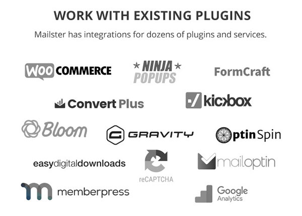 mailster third party plugins integration