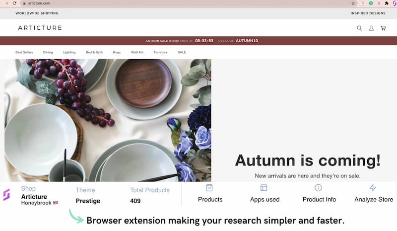 SaleSource browser extension.