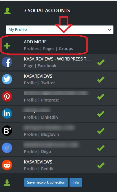 adding and removing social accounts