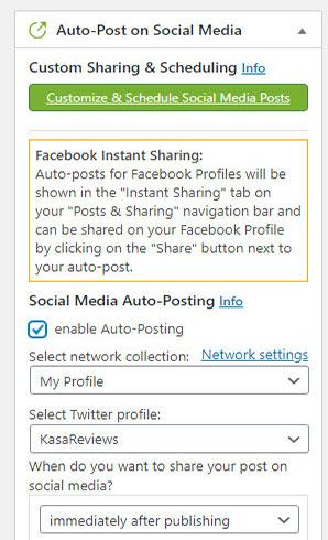 auto post on social media