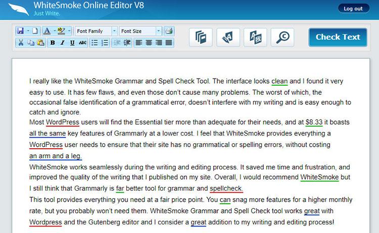 whitesmoke online editor