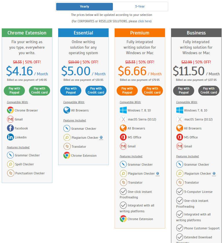 whitesmoke pricing plans