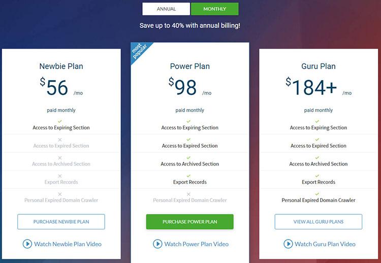 domcop pricing plans