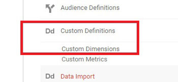 google analytics custom dimensions
