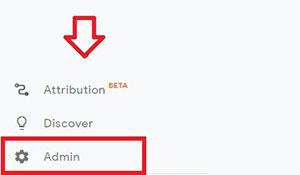 google analytics website admin