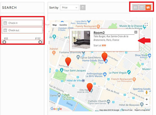 search map view pinpoint pro