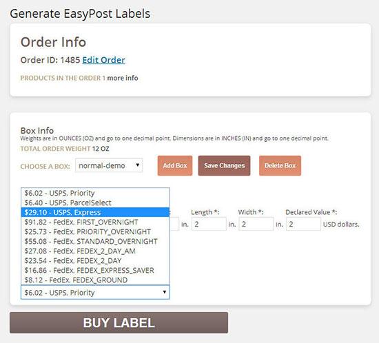 woocommerce dhl plugin printing label