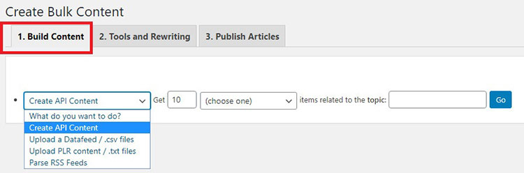 wp robot curation settings