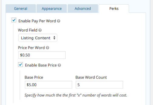 Gravity Forms Pay Per Word