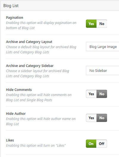 bridge blog settings