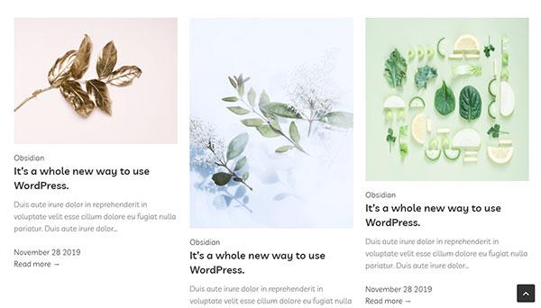 gutenberry blog layouts