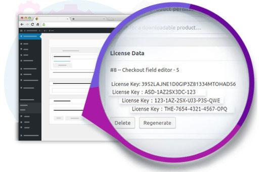 WooCommerce license key generating plugins