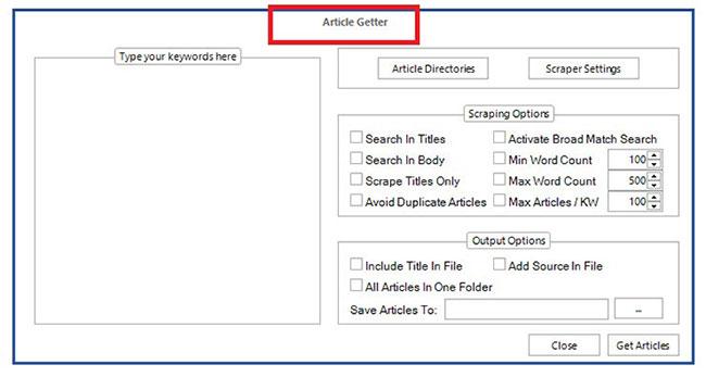 article getter kontent machine