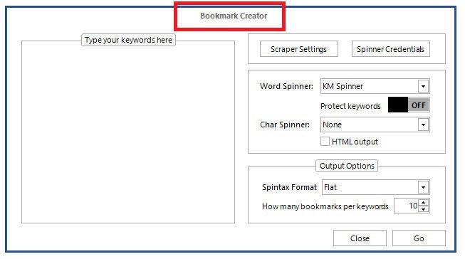 bookmark creator kontent machine