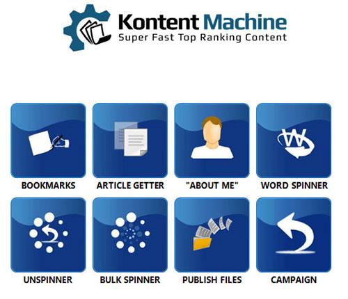 kontent machine tools menu
