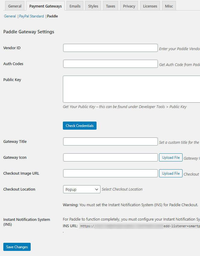 easy digital downloads wpsmartpay paddle plugin