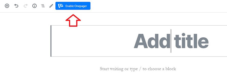 how to use wponepager plugin