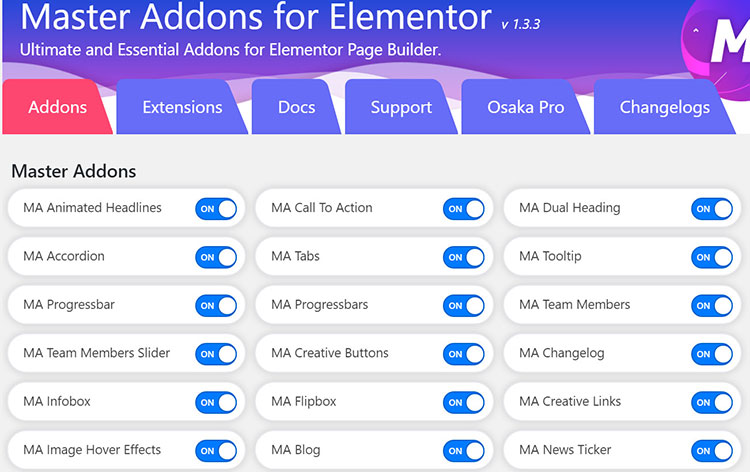 master addons for elementor free vs paid