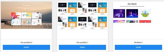 portfolio blocks wponepager