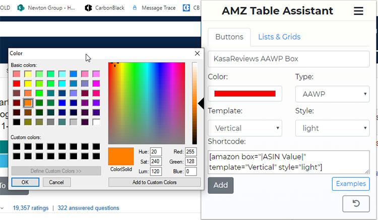 Amazon Custom Shortcode Button Creation