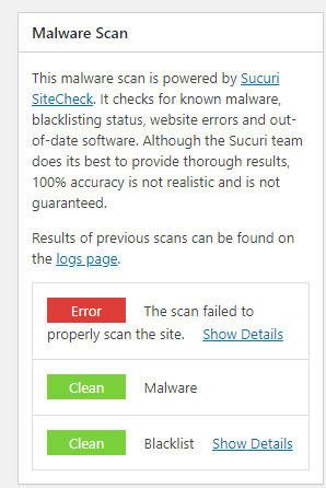 wordpress website malware scan plugin