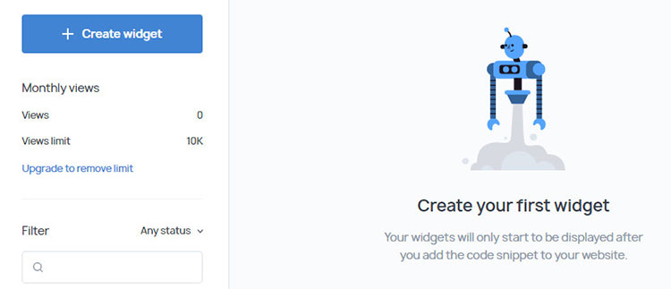 getsitecontrol create widget