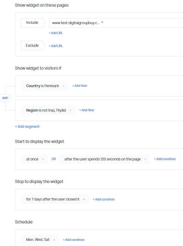 getsitecontrol targeting options