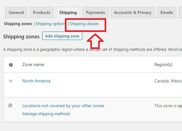 how to add shipping classes woocommerce